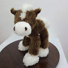 "Fiesta Standing Pony Plush Brown White 16.5"" Stuffed Horse Animal Toy"