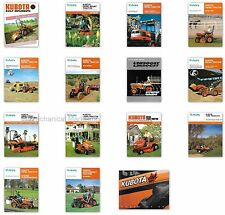 Kubota Sales Brochures - Lot of 15 - late 80's- early 90's, Excellent Condition