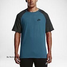 Nike Sportswear Men's Reflective T-Shirt S Green Gym Casual Training Running New