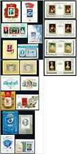 Russia USSR Large Lot of 20 MNH Souvenir Sheets from 1981 to 1985