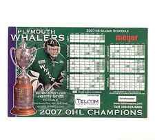2007-08 Plymouth Whalers defunct Jeremy Smith Ohl team issued magnet schedule
