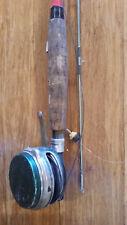 Antique Heddon Fishing Pole Rod With Pemco Fishing Reel