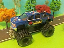 1/64 Custom Lifted Chevrolet Silverado, 4 Door Cab, Harley-Davidson, Knucklehead