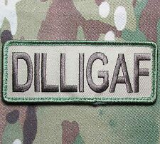 DILLIGAF USA ARMY OAF ISAF TACTICAL MORALE MILITARY BADGE MULTICAM VELCRO PATCH