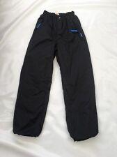 "Girls Black Decathlon  Ski Trousers Sz Waist 22"" #175"