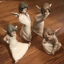 Lot Of 4 Lladro Angels #4959,#4960,#4961, & #4962
