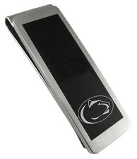 PENN STATE NITTANY LIONS PSU * Stainless Steel & Black Money Clip w/School Logo