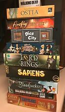 Board Game Lot 10 Games Walking Dead Catan Dice City Cool Mini Lord of the Rings