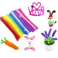 100PCS DIY Chenille Stems Tube Cleaners 5MM Children Kids Plush Educational Toy