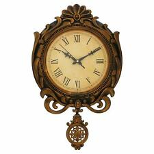 Wall Clock Designer Creative Antique Round Pendulum Retro Large Home Decor Watch