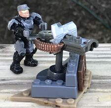 *MEGA CONSTRUX HALO* Oni Strike Team #FMM87  NMPD OFFICER FIGURE W/ Heavy MG