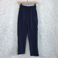 Reebok Vintage 90s Windbreaker Pants Blue Zip Ankle High Rise Womens Small