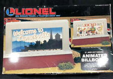 LIONEL 6-12761 ANIMATED BILLBOARD - WELCOME TO LIONELVILLE BRAND NEW UNUSED MIB
