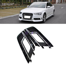 Pair RS4 Style Chrome Fog Light Bumper Grille Grill Cover For Audi A4 2013+