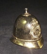 London ER Metropolitan Police Figural Hat Helmet Metal Bell Melodic Ring Gold