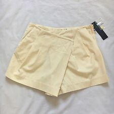 Marc by Marc Jacobs Light Yellow Pleated Asymmetrical Wrap Shorts $228 Size 2