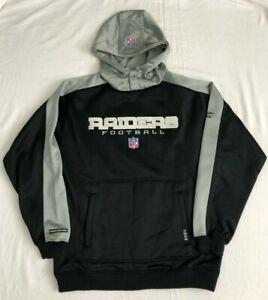NFL Men's Oakland Raiders MEDIUM Black Hooded Sweatshirt Polyester by Reebok