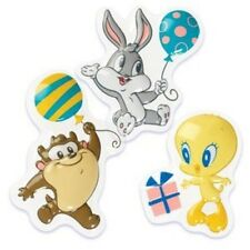 Baby Looney Tunes (Bugs, Tweety & Taz) Pop Top Cake Decoration Topper 3pcs