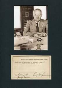 NOBEL PRIZE 1935 Hans Spemann autograph, signed card mounted