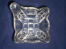 """Hildago 1 Handled Square Nappy by Adams & Company 4"""" Clear"""