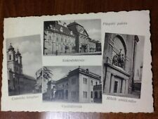 PUSPOKI PALOTA, VASUTALLOMAS, CISTERCITA TEMPLOM, HUNGARY, 1937 OLD POSTCARD