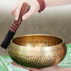 Nepal handmade Tibet Buddha sound bowl Yoga Meditation Chanting Bowl Brass