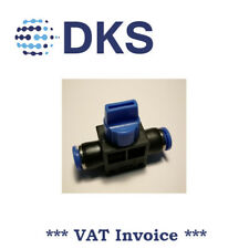 Manual Shut-Off Valve Pneumatic Air Push Fittings In 8 / Out 8 mm Tube 000558