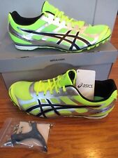 NEW IN BOX mens CLEATS shoes size 10 ASICS Hyper MD 5 yellow / black / silver