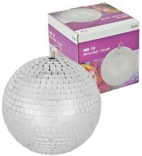 GLITTER BALL 10cm Mirror Ball Lightweight Silver for Disco & Parties