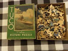 Vintage TUCO, 1940's militaria, puzzle, bomber, battleship, statue of liberty