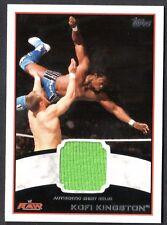 WWE 2012 (Topps) WHITE BORDER AUTHENTIC SHIRT RELIC Card: KOFI KINGSTON