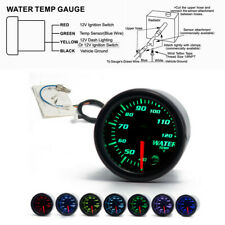 "Car 12V 2""/52mm 7 Colors LED Water Coolant Temperature Temp Gauge Meter+Sensor"