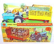 Corgi Toys 1:43 FORD 5000 SUPER MAJOR Tractor & BEAST TRAILER Gift Set 1 C-9 MIB
