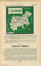 ADVERTISEMENT Bordeaux Chateau Vineyard Wine Sainte St Foy MAP Dorgogne