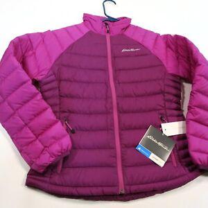 $229 Eddie Bauer Women's Petite Downlight Storm Jacket Pet/Small Pink NWT