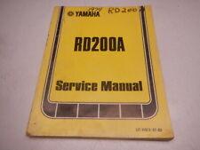1974 Yamaha Service Manual RD200A RD200 A RD 200A 200 74