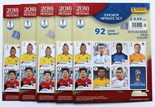 Panini World Cup 2018 Russia - 5 X Set of 92 Update Stickers Not