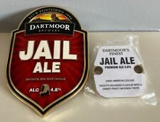 More details for new dartmoor brewery real ale jail ale pump clip (metal)