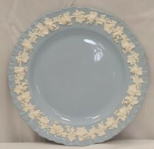 "Wedgwood Barlaston Etruria Queensware 1 Dinner Plate 10"" Grapevine Soft Blue"