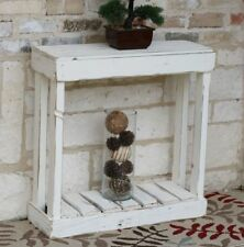 """White 30"""" Slatted Console"""