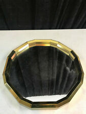 """16 Sided Plastic Gold Color Wall Art Home Decor Mirror 15"""""""
