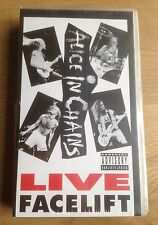ALICE IN CHAINS live Facelift,SEALED VHS,original 1991,49081-2.Pear Jam.