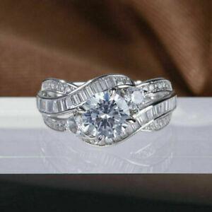 14K White Gold Modern & Sleek Twisted Engagement & Wedding Ring 1.96 Ct Diamond
