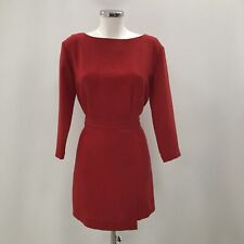 & Other Stories Dress Ladies UK 10 USA 6 Red Polyester Formal 072058