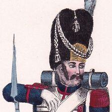 Grenadier de la Garde Royale Restauration Louis XVIII 1846 Uniforme