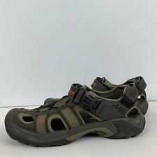 Teva Omnium 2 Mens Leather Water Sport Sandal Olive Green Spider Rubber Size 8