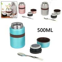 500ML Portable Thermos Hot Food Flask Lunch Box Storage Food  Boxes