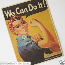 World War II We Can Do It! Vintage Poster Kraft Paper Poster Cafe Bar Decorate