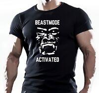 BEAST MODE ANIMAL GYM BODYBUILDING MOTIVATION T SHIRT WORKOUT MMA TEE TOP HULK