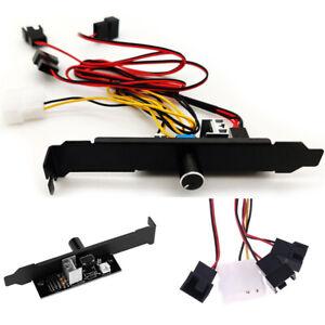 3 Channel PC Case Cooler Fan Controller Connector 3 Pin Hub Adapter Splitter